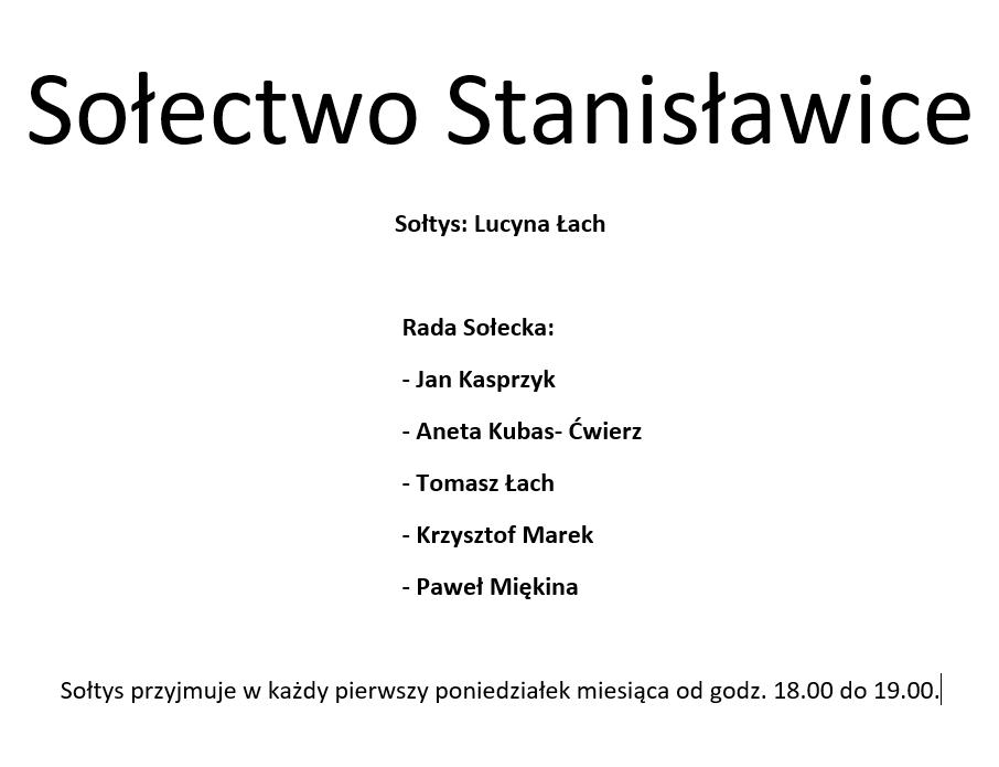 Sołectwo Stanisławice Gmina Bochnia